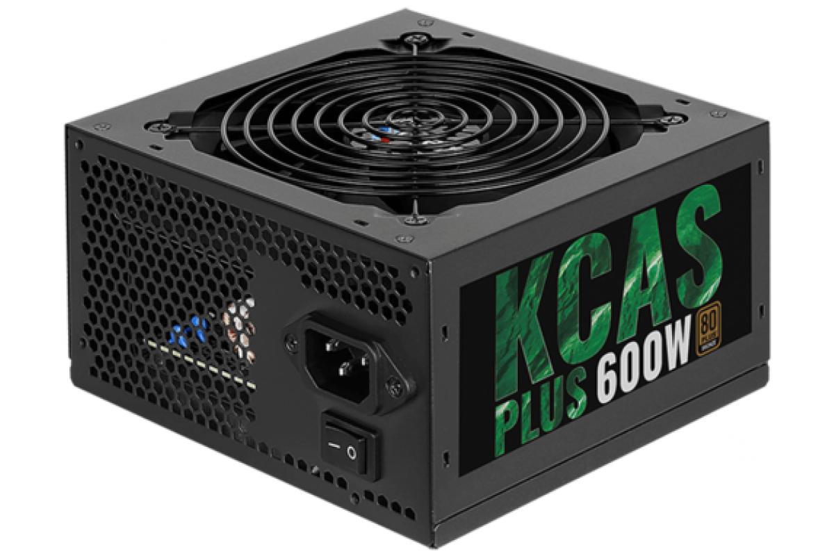 Блок питания Aerocool ATX 600W KCAS PLUS 600 80+ bronze (24+4+4pin) APFC 120mm fan 7xSATA RTL