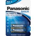 Батарейки Panasonic LR6EGE/2BP AA щелочные Evolta в блистере 2шт