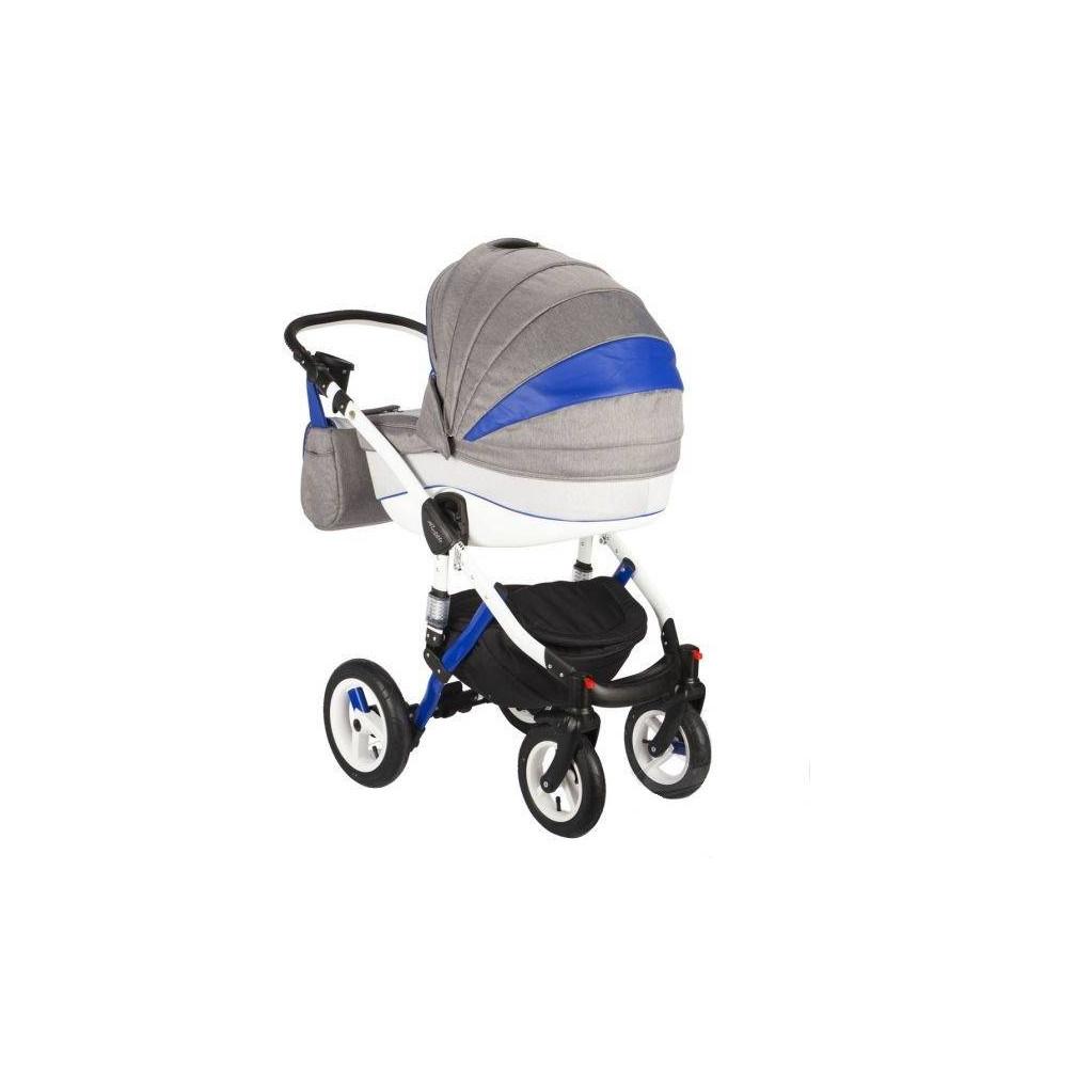 Adamex Barletta - коляска 3 в 1 Rainbow серо-синяя