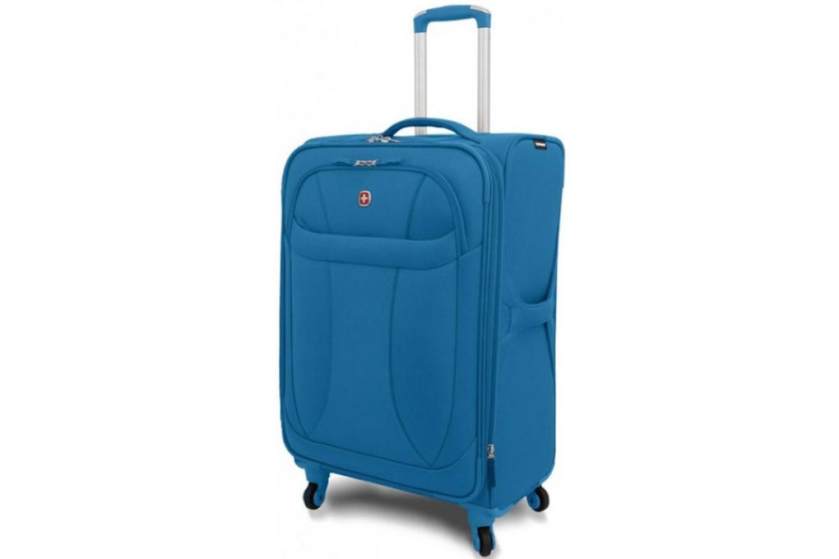 """Чемодан WENGER """"NEO LITE Spinner"""", синий, полиэстер, 48х27x74 см, 96 л, 72083329"""