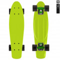 "Y-Scoo Fishskateboard 22"" - скейтборд с сумкой Lime-black"