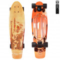 "Y-Scoo Big Fishskateboard Metallic 27"" - скейтборд с сумкой Orange-black"