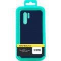 Чехол-накладка для Xiaomi Redmi Note 9 синий, Microfiber Case, Borasco