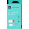 Дата-кабель BoraSCO USB - Micro USB, 2А 1м, белый