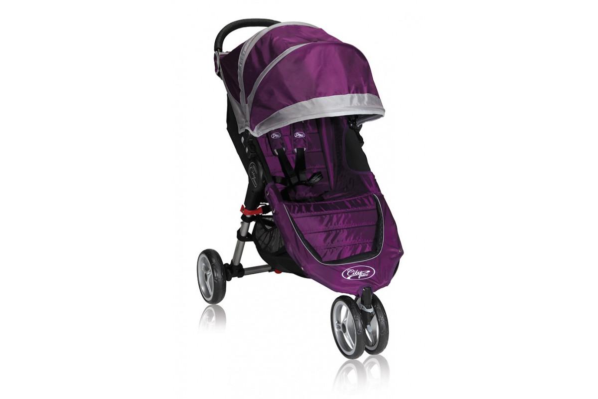 Baby Jogger City Mini Single - коляска прогулочная фиолетово-серая