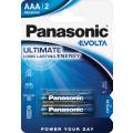Батарейки Panasonic LR03EGE/2BP AAA щелочные Evolta в блистере 2шт