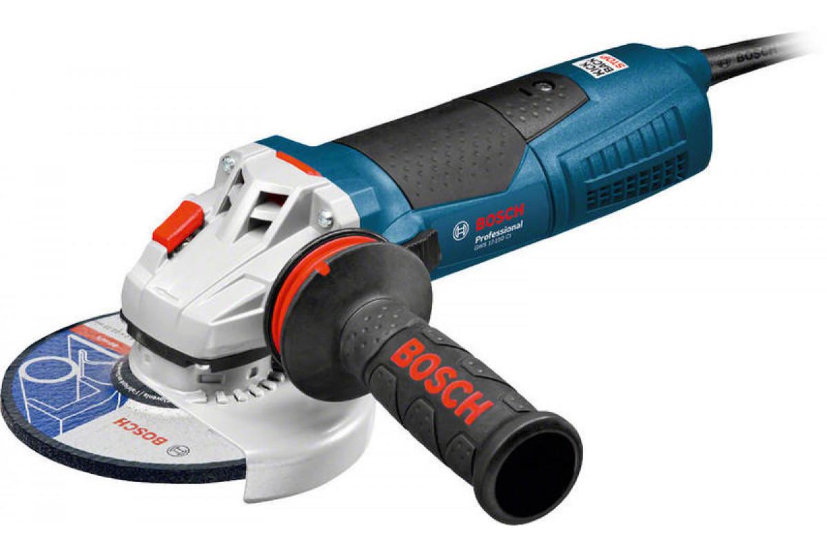Углошлифовальная машина (болгарка) Bosch GWS 17-150 CI (0.601.798.0R6)   1700Вт 9300об/м 150мм плав. пуск
