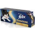 Консервы для кошек Felix Sensations, кусочки в желе с лососем и треской, 85г*24 шт.