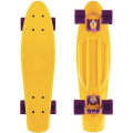 "Y-Scoo Big Fishskateboard 27"" - скейтборд с сумкой Yellow-dark Purple"