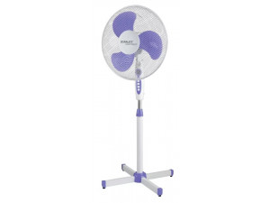 Вентилятор напольный Scarlett SC-SF111B10 38Вт скоростей:3 белый/фиолетовый