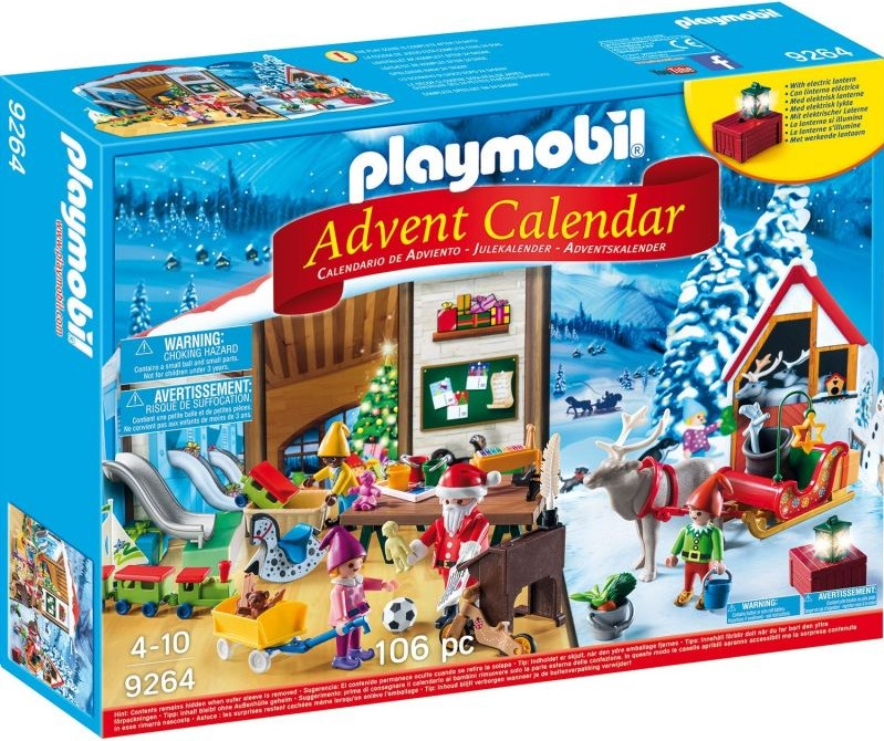 Playmobil Адвент-календарь - Мастерская Санта-Клауса