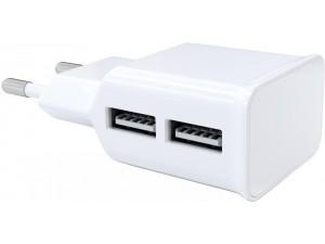СЗУ адаптер USB, 5V2A dual белый, Redline уценка (выставочный образец)