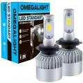 Лампа автомобильная LED светодиодная Omegalight Standart H4 2400lm (2шт)