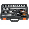 Набор торцевых ключей Custor TK-02454K  1/4'' 1/2'' комб. и шарнир. ключи 54 пр.