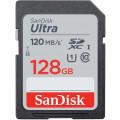 Карта памяти SanDisk SDXC Ultra Class 10 UHS-I (120/10MB/s) 128Gb