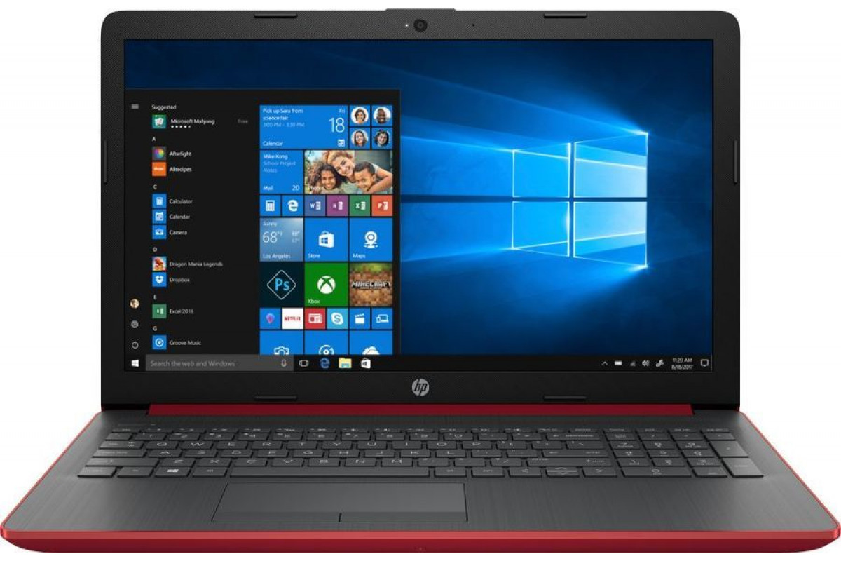 "Ноутбук HP 15-db0080ur <4JW37EA> AMD A9-9425 (3.0)/8Gb/1Tb/15.6""HD AG/AMD 520 2GB/No ODD/Cam HD/Win10 (красный)"
