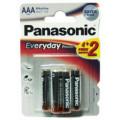 Батарейки Panasonic LR03REE/6B2F AAA щелочные Everyday Power promo pack в блистере 6шт