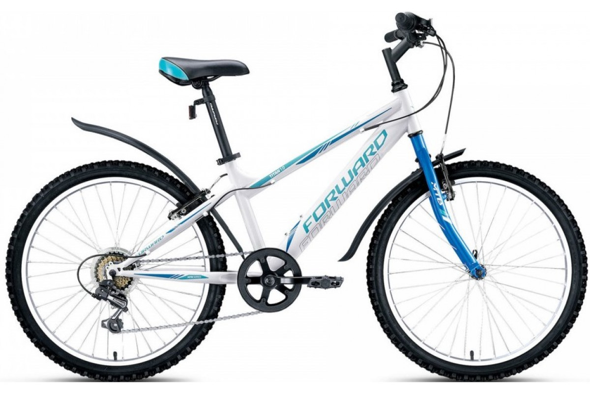 "Велосипед 24"" Forward Titan 1.0 Белый 16-17 г 14'"