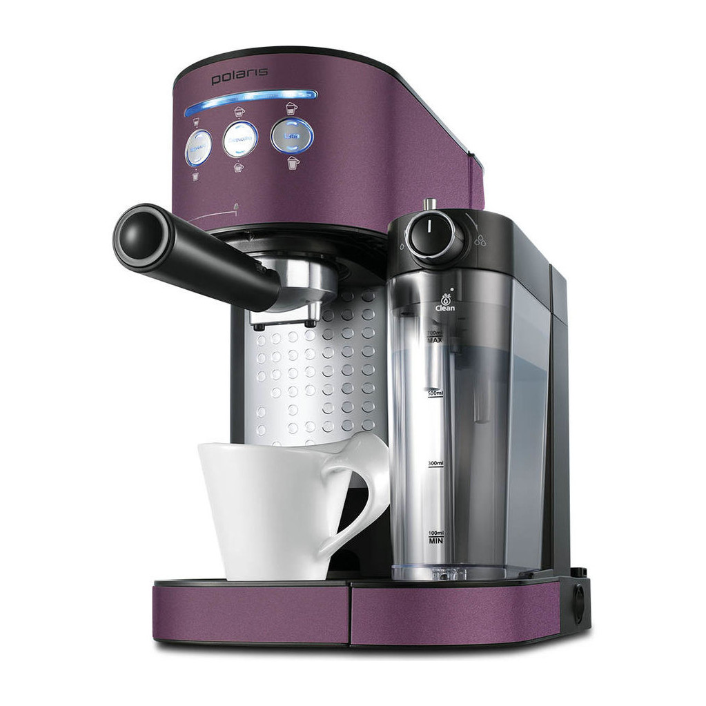 Кофеварка эспрессо Polaris PCM 1525E Adore Cappuccino 1350Вт бордовый