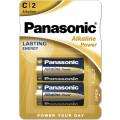 Батарейки Panasonic LR14REB/2BP C щелочные Alkaline power в блистере 2шт