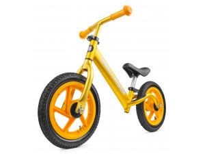 Small Rider Foot Racer AIR - беговел, надувные колеса золотистый металлик