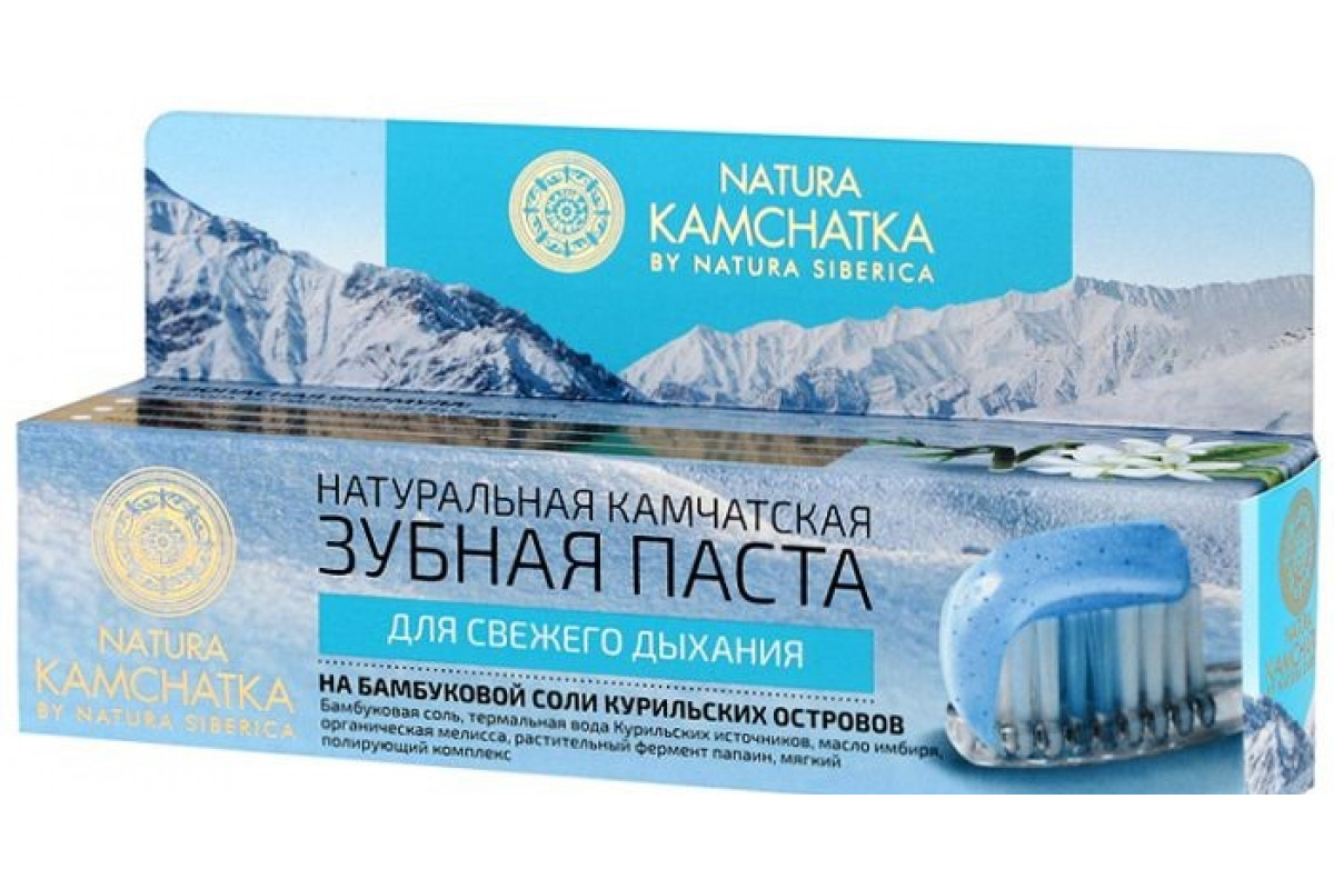 Natura Kamchatka Зубная паста Камчатская для свежего дыхания 100мл