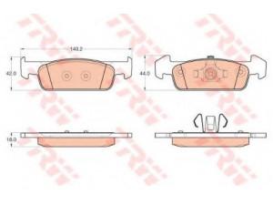 Колодки тормозные передние TRW  GDB2018 для RENAULT Logan 2013->