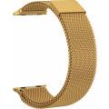 Ремешок сетчатый на магните для Apple Watch 44мм, золото