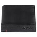 Портмоне Zippo с защитой от сканирования RFID, цвет чёрный, натуральная кожа, 10,5×1,5×9 см