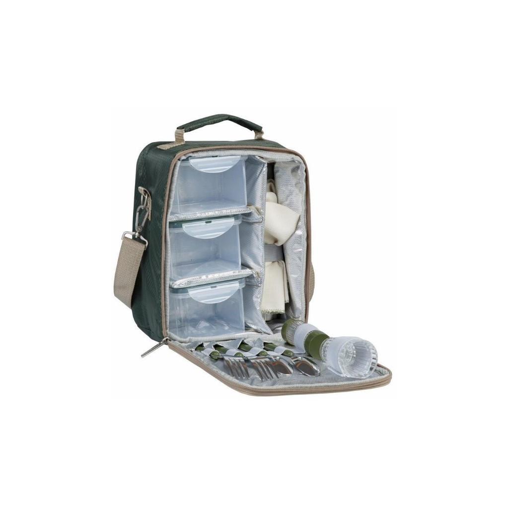 Набор для пикника CW River Lunch в подарочной упаковке (на 2 персоны, цвет зеленый, сумка-термос с н