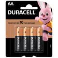 Батарейка щелочная Duracell LR6 (AA) 1.5В блистер 4шт