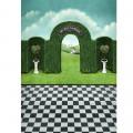 Фон виниловый 150х90см, секретный сад