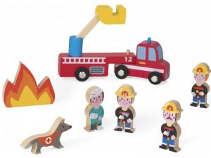 Janod Набор деревянных фигурок Маленькие истории. Пожарные