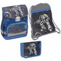 НАБОР: Ранец Belmil CLICK ROBOT. В комплекте мешок для обуви и пенал с двумя клапанами без наполнения