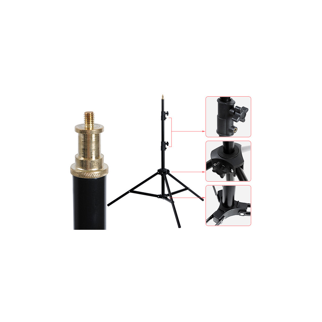 Стойка Godox 304 Black 70-200 см с пружинным амортизатором (черный)