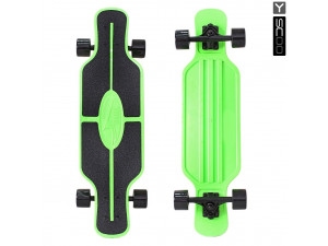 "Y-Scoo Longboard Shark TIR 31"" - скейтборд с сумкой зеленый-черный"