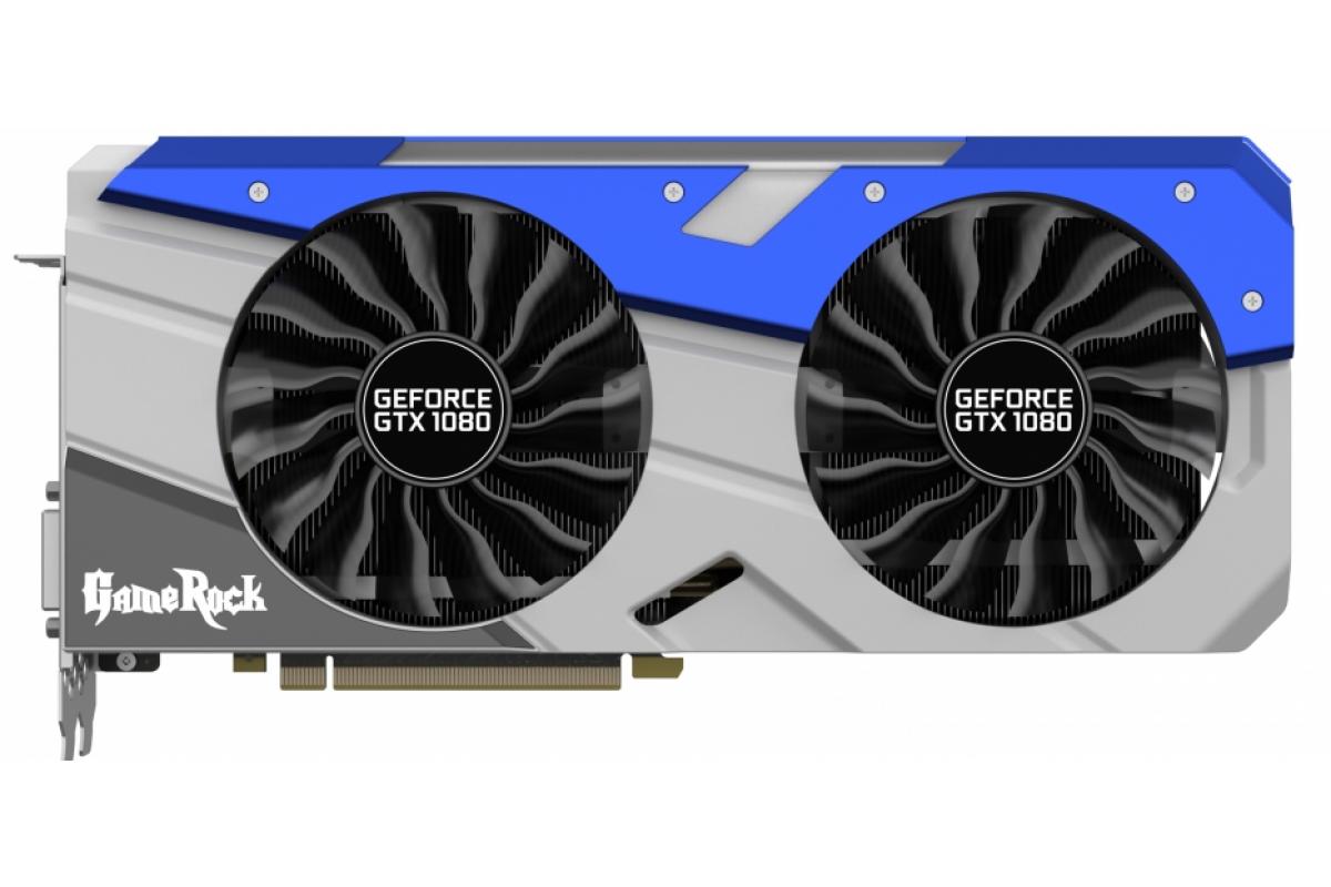 Видеокарта Palit PCI-E PA-GTX1080 GameRock nVidia GeForce GTX 1080 8192Mb 256bit GDDR5X 1645/10000 DVIx1/HDMIx1/DPx3/HDCP Ret
