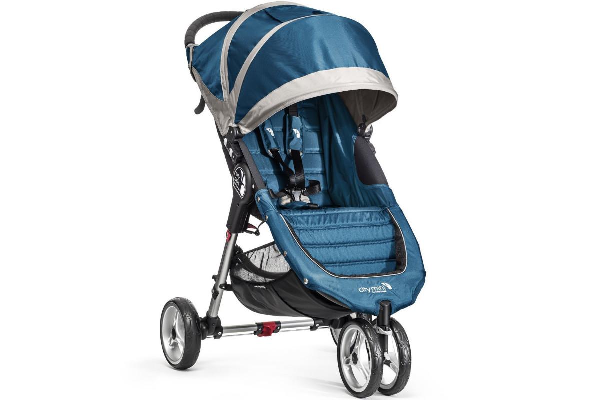 Baby Jogger City Mini Single - коляска прогулочная бирюзовый-серая