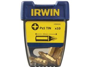 """Вставка Irwin Pozidriv 1/4"""" Titanium 25 мм 10 шт (PZ1 TIN)"""