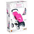 Smoby MC&Quinny Прогулочная коляска для 2-х кукол, 52х38,5х65,5 см