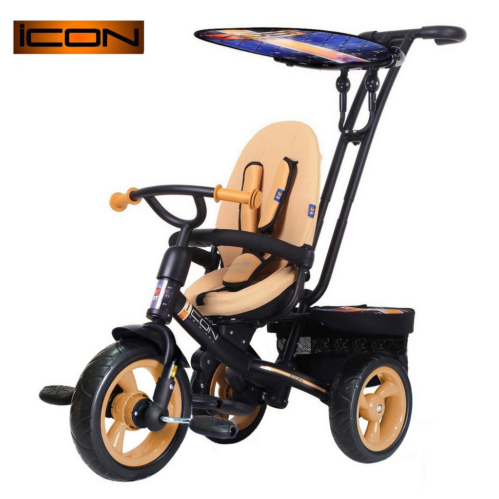 RT ICON evoque NEW Stroller by Natali Prigaro EVA - трехколесный велосипед Gold