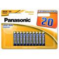 Батарейки Panasonic LR03REB/20BW AAA щелочные Alkaline power multi pack в блистере 20шт