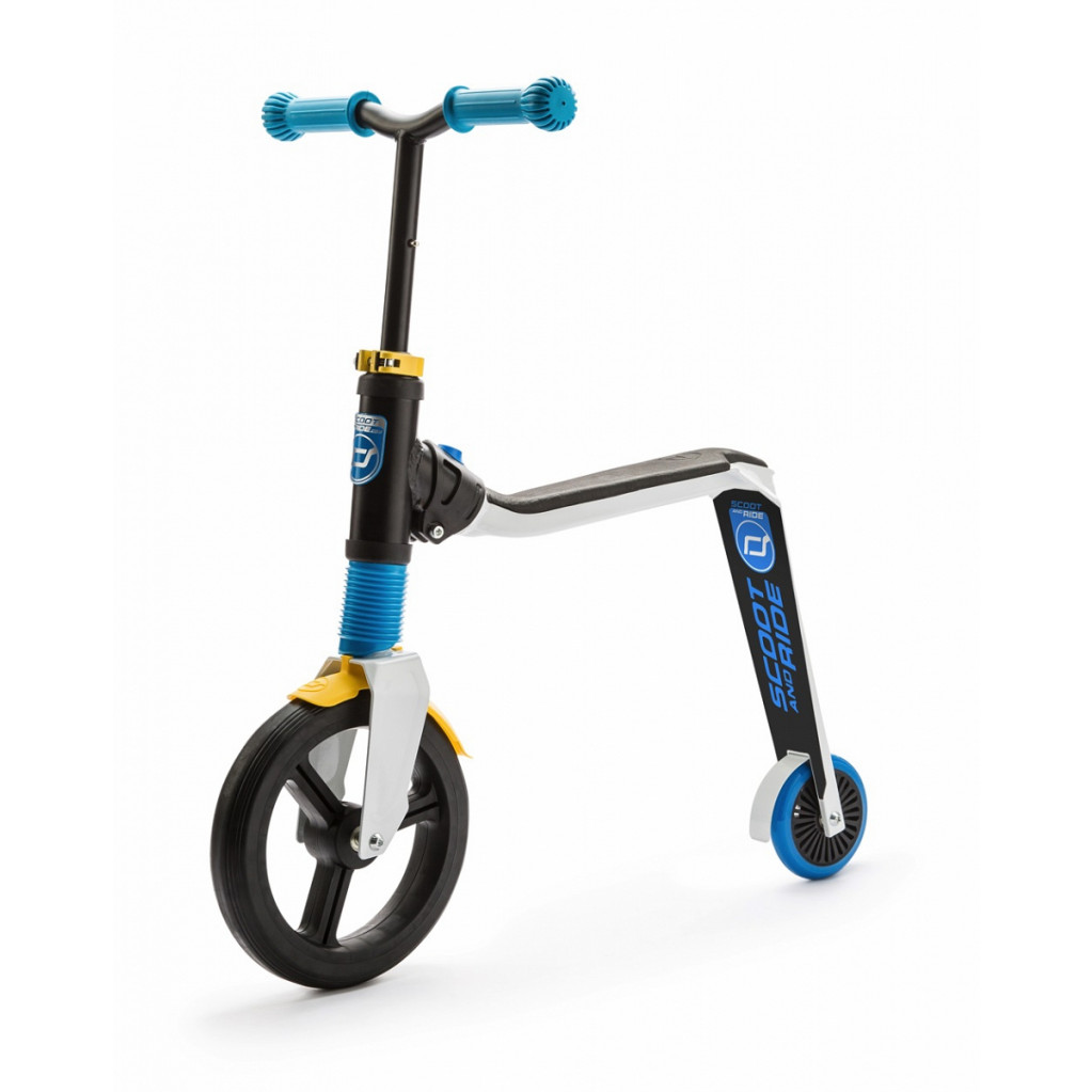 Scoot & Ride Highway Freak - детский беговел-самокат 2016 бело-сине-желтый