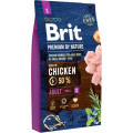 Корм для собак мелких пород Brit Premium by Nature Adult S, курица, 8 кг