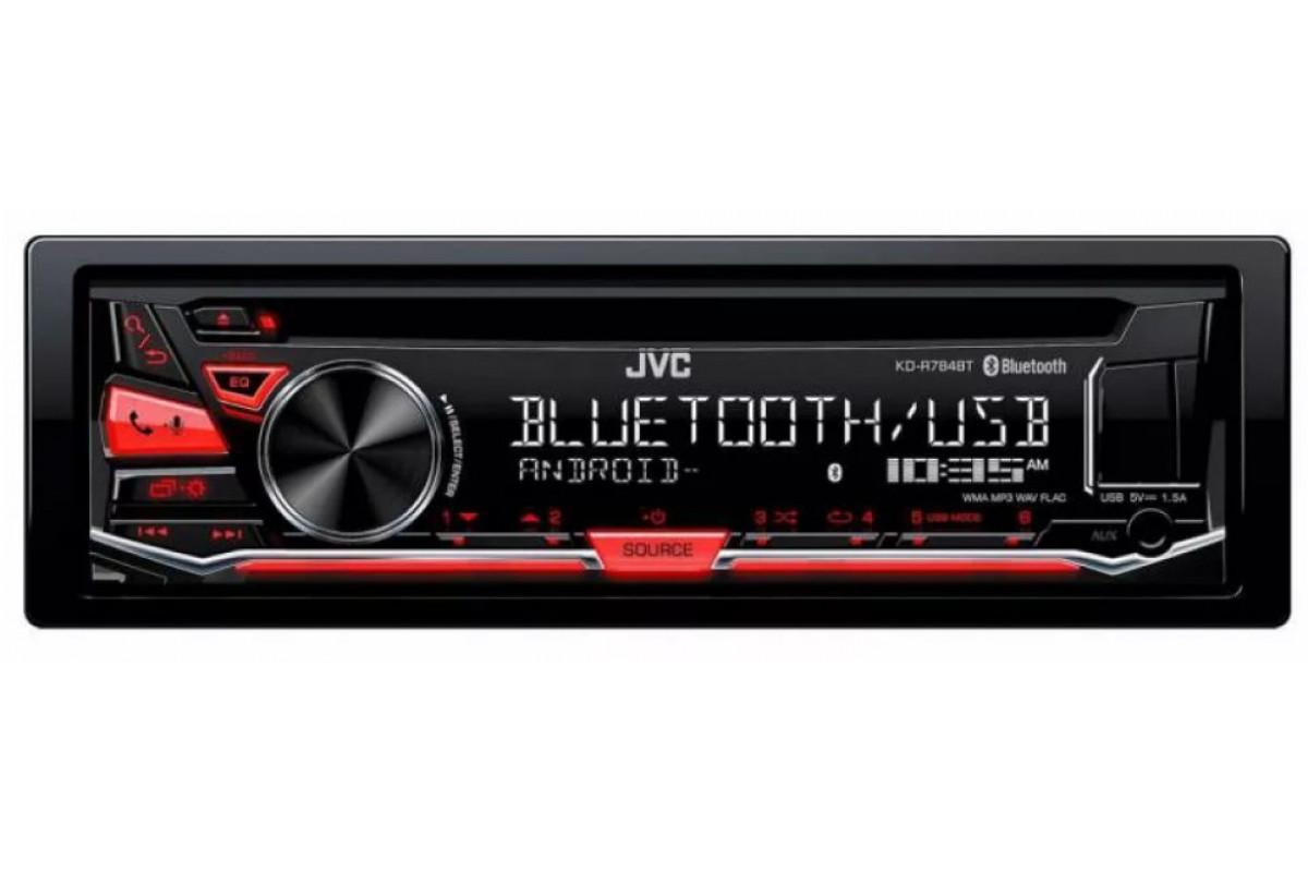 Автомагнитола CD JVC KD-R784BT 1DIN 4x50Вт