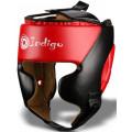 Шлем боксерский тренировочный Indigo 250046 Черно-Красный S