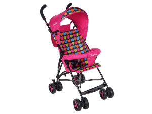 BamBola B200 Love - прогулочная коляска-трость розовый