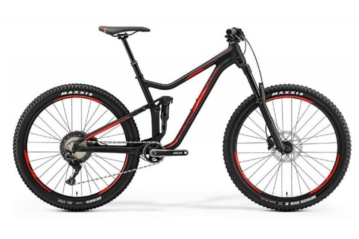"Велосипед Merida One-Forty 700 Matt Black (Shiny Red) 2019 M(17"")(72121)"