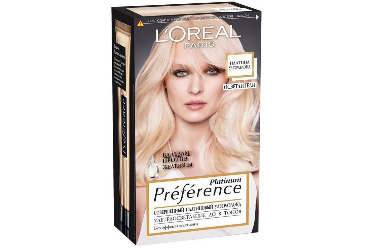 L'Oreal Preference Краска для волос тон 8 платина ультраблонд осветленный