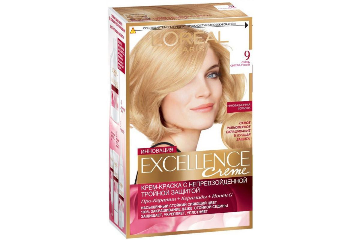 L'Oreal Excellence Краска для волос тон 9 очень светло-русый